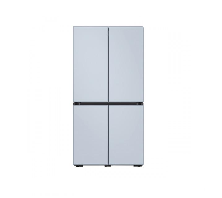 [L] 삼성 냉장고 4도어 비스포크 양문형 871L 새틴스카이블루 RF85T901348 / 월 58,700원