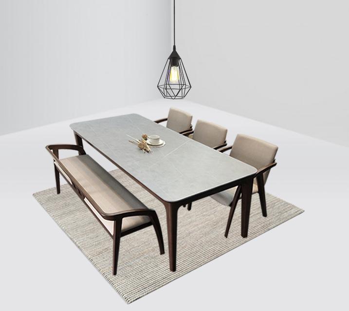 램지 6인 벤치형 세라믹 식탁 세트  / 월 51,800원