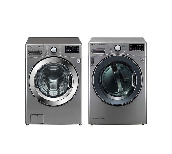 [L] LG 드럼세탁기 17Kg + 건조기 14Kg F17VDAP(PKG) / 월 73,900원