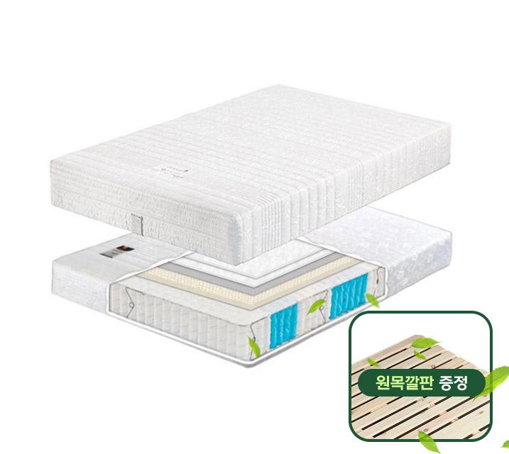 ★소나무 원목깔판 증정★ 라텍스 7존 포켓 매트리스 SS / 월 11,800원