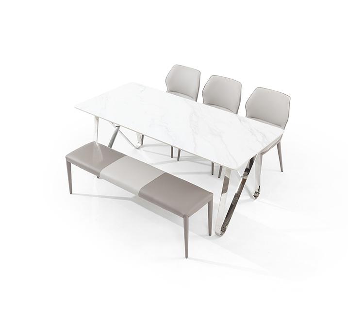 루멘 세라믹 6인 식탁세트 (의자3ea, 벤치1ea) / 월 75,800원