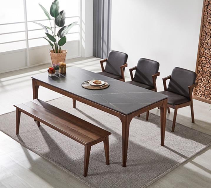 샤비 세라믹 4인 식탁세트 + 의자포함 (의자형/의자4ea) / 월 37,800원