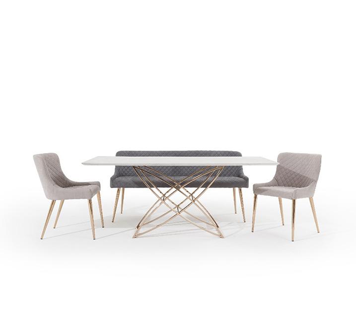 코다 세라믹 4인 식탁세트 (의자2ea, 벤치1ea) / 월 81,800원