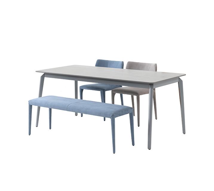 카일로 세라믹 4인 식탁세트 (의자2ea, 벤치1ea) / 월 61,800원