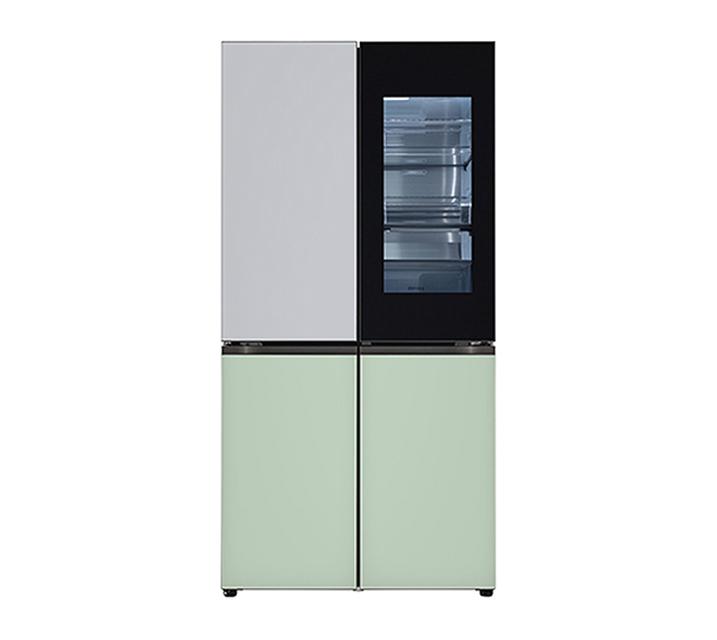 [S] LG 오브제컬렉션 노크온 매직스페이스 냉장고 870L 실버민트 M870GSM451 / 월 120,000원
