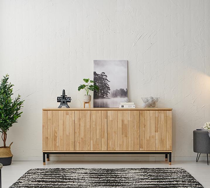 듀흐 고무나무 1800 높은 거실장 / 월35,800원